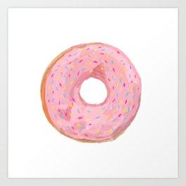 Pink Donut Art Print