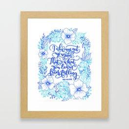 Quote Artwork (Vanguard by Ann Aguirre) Framed Art Print