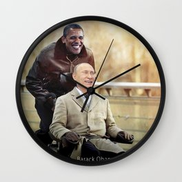 "Putin And Obama in ""Les Intouchables"" Wall Clock"