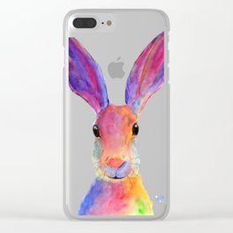 HaRe RaBBiT BuNNY PRiNT ' JeLLY BeaN ' BY SHiRLeY MacARTHuR Clear iPhone Case