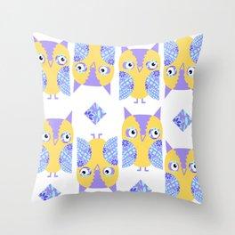 Owls pattern 43u Throw Pillow