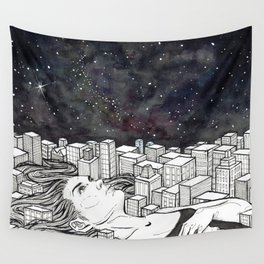 The City Never Sleeps Wall Tapestry