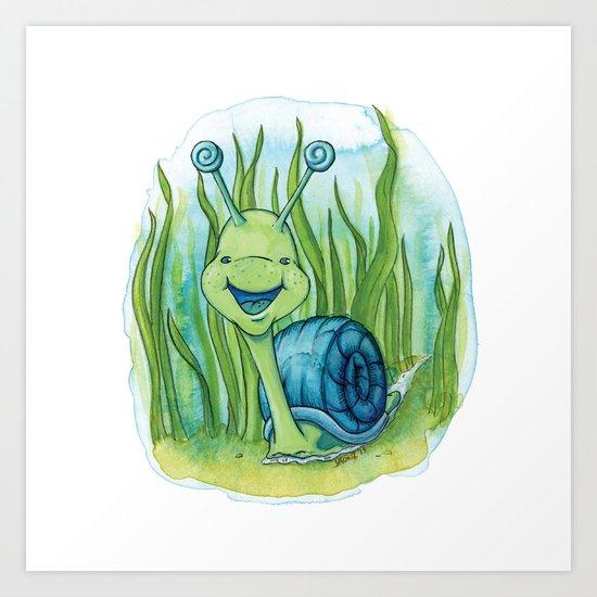 Seymour Snail Art Print