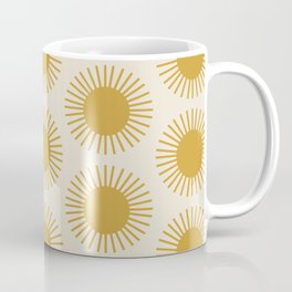 Golden Sun Pattern Coffee Mug