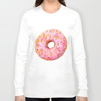 donut Long Sleeve T-shirts featuring Donut  by Julia Nordlund