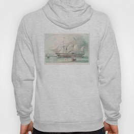 Vintage Illustration of The President's Steamship (1840) Hoody