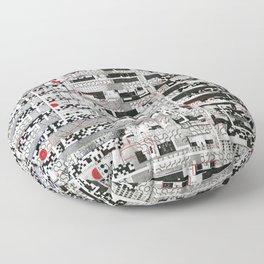 Opportunistic Species (P/D3 Glitch Collage Studies) Floor Pillow