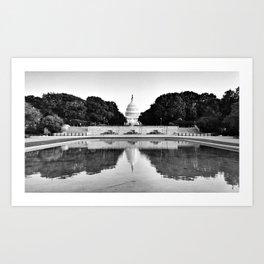 Capitol Reflected Art Print