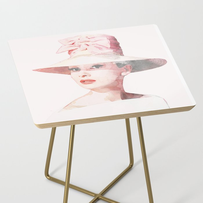 Audrey Hepburn - Watercolor Side Table