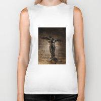 christ Biker Tanks featuring Jesus Christ by Villads Andersen