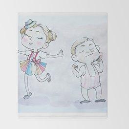 Circus Children Throw Blanket