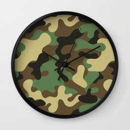 Classic Camouflage Pattern Wall Clock