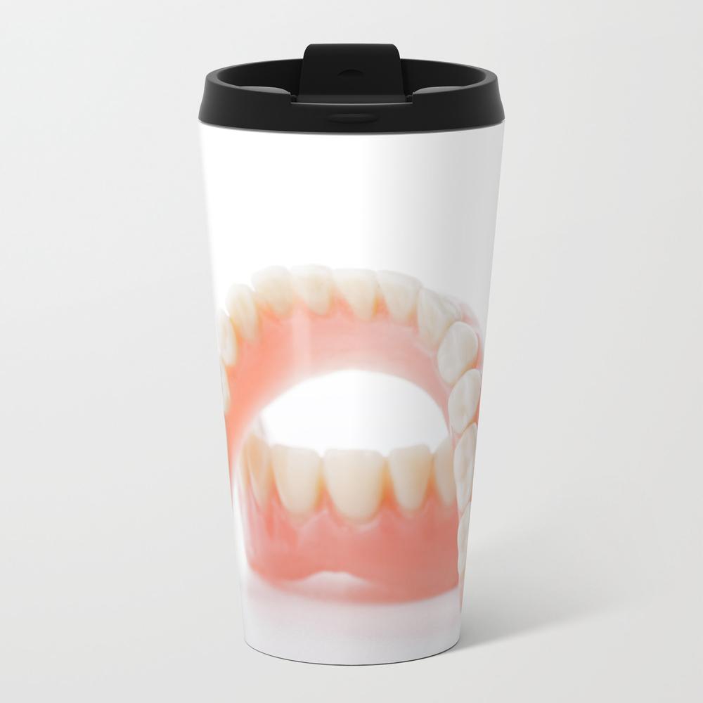 Denture Jaws Model Metal Travel Mug by Claraveritas MTM7994719