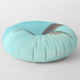 Hummingbird on the Move Floor Pillow