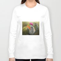 aperture Long Sleeve T-shirts featuring Superb Fruit Dove by Pauline Fowler ( Polly470 )
