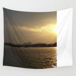 Sunset On The River Kwai Wall Tapestry