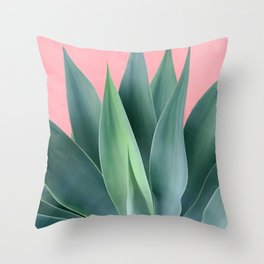 Agave succulent Throw Pillow