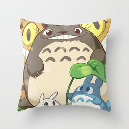 funny and friend Throw Pillow