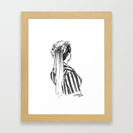 Hat Ribbons Framed Art Print