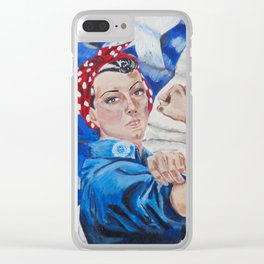 Rosie the Riveter Clear iPhone Case