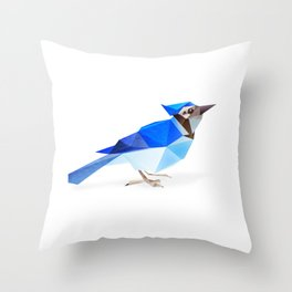 Blue Jay. Throw Pillow