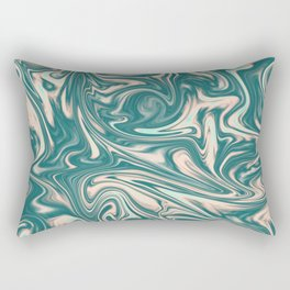 Green marble abstract bacjground. Rectangular Pillow