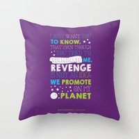 buzz lightyear Throw Pillows featuring Buzz Lightyear by Nikita Gill
