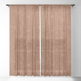 starburst woven - ginger Sheer Curtain