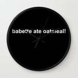 Babette ate oatmeal! Gilmore Girls Kirk Shirt Wall Clock