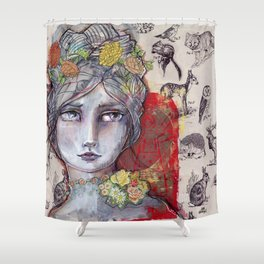 Nature Study by Jane Davenport Shower Curtain