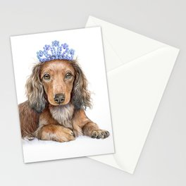 Little dachshund princess Stationery Cards