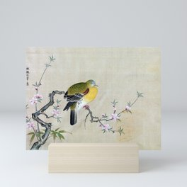 Kano Tsunenobu Bird on a Flowering Branch Mini Art Print
