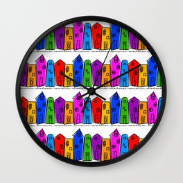 Rowhouse Romance Wall Clock