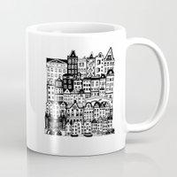 amsterdam Mugs featuring Amsterdam by Sol Fernandez