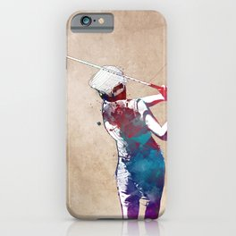 Golf player sport #golf #sport iPhone Case