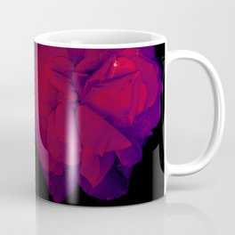 Dark Roses | Real Flowers, Romantic Rose Flowers, Pressed Flowers, Dark Art, Dark Academia, Garden, Plants, Floral, Red, Purple, Black Coffee Mug
