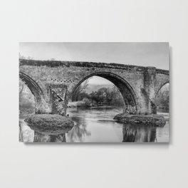 Old Stirling Bridge B&W Metal Print