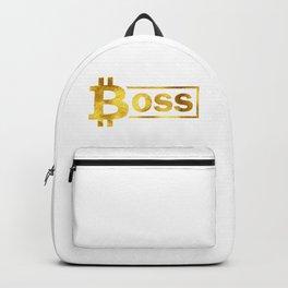Bitcoin boss #society6 #decor #buyart #artprint Backpack