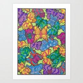 Butterfly Conservatory  Art Print