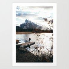 Vermillion Lakes Art Print