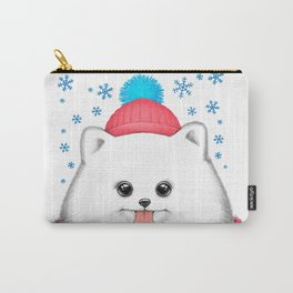 winter dog Carry-All Pouch
