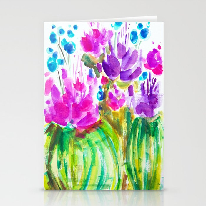 Flowerista Cactus Stationery Cards