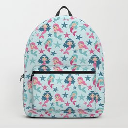 Teal Mermaid Friends Backpack