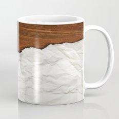 Wooden Crumbled Paper Coffee Mug