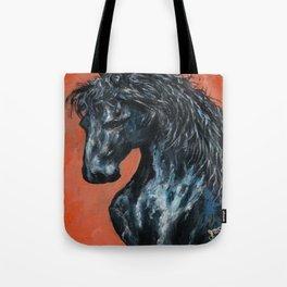 Friesian Horse Original Painting Tote Bag