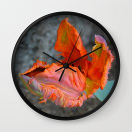 Parrot Tulip by Teresa Thompson Wall Clock