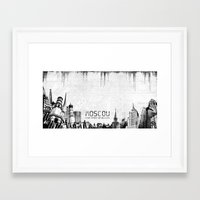 moscow Framed Art Prints featuring Moscow by Yan-k