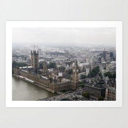 Big Ben from the London Eye Art Print