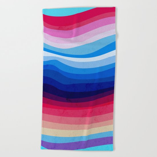 Melted Rainbow Beach Towel