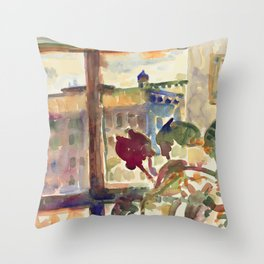 View over Broadway, NYC Throw Pillow